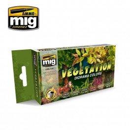 MIG  MIG-7176, VEGETATION diorama colors