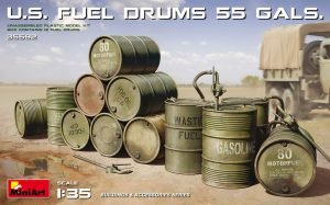 MiniArt 35592 U.S. Fuel Drums  55 Gals.