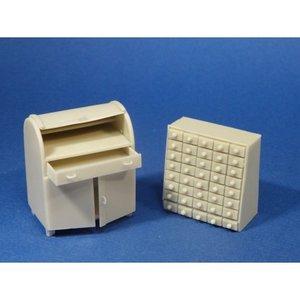 Resicast 35.2408  Desk & Filling Cabinet