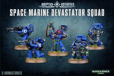 Warhammer 40K, 48-15, Space Marine Devastator Squad