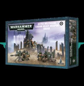 Warhammer 40K  47-19 Astra Militarum Cadian Heavy Weapons Squad