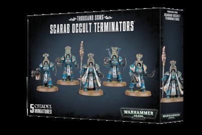 Warhammer 40K,  43-36, Thousand Sons, Scarab Occult Terminators