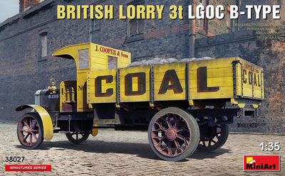 "MiniArt 38027 British Lorry 3T LGOC B-Type ""COAL"" 1:35"