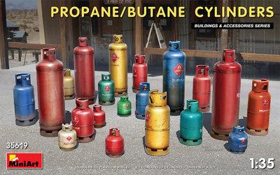 MiniArt 35619 - Propane/Butane Cylinders - 1:35