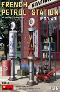 MiniArt 35616 - French Petrol Station 1930-40s - 1:35