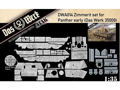 Das Werk DWA014 Zimmerit set for Panther early (Das Werk 35009)