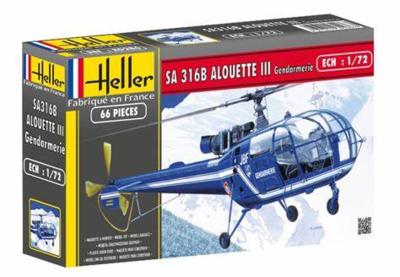 "Heller 80286 SA 316B Alouette III ""Gendarmerie"" 1:72"