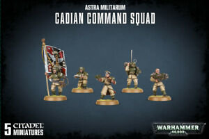 WARHAMMER 47-09 ASTRA MILITARUM CADIAN COMMAND SQUAD