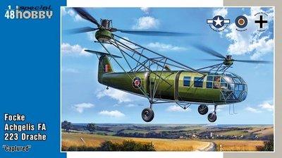 "Special Hobby SH48201 Focke Achgelis FA 223 Drache ""Captured"""