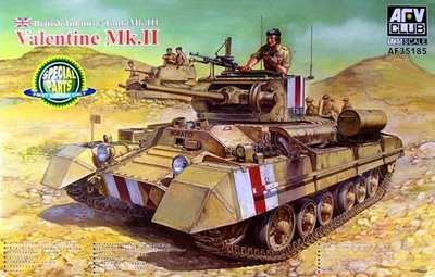 AFV Club 35185 British Infantry Tank Mk.III Valentine Mk.II