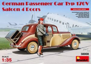 Miniart 38008 German Passenger Car Typ 170 V Saloon 4 Doors