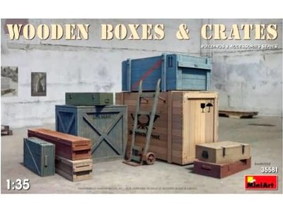 Miniart 35581 Wooden Boxes & Crates