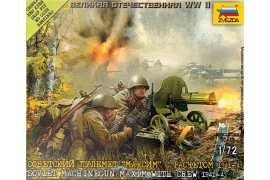 "Zvezda 6104 Soviet Machine-Gun ""Maxim""with crew 1941-1943  (snap-fit)"