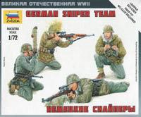 Zvezda 6217 German Sniper Team  ( snap fit )