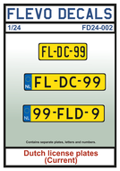 FD24-002 - Dutch license plates (current) - 1:24 - [Flevo Decals]
