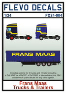 FD24-004 - Frans Maas Trucks & Trailers - 1:24 - [Flevo Decals]