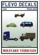 FD24-005 - Military Vehicles - 1:24 - [Flevo Decals]