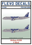 FD144-206-Airbus-A320-V-Bird-1:144-[Flevo-Decals]