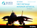 Quinta-Studio-QD48048-F-14A--3D-Printed-&-coloured-Interior-on-decal-paper--(for-Tamiya-kit)-1:48